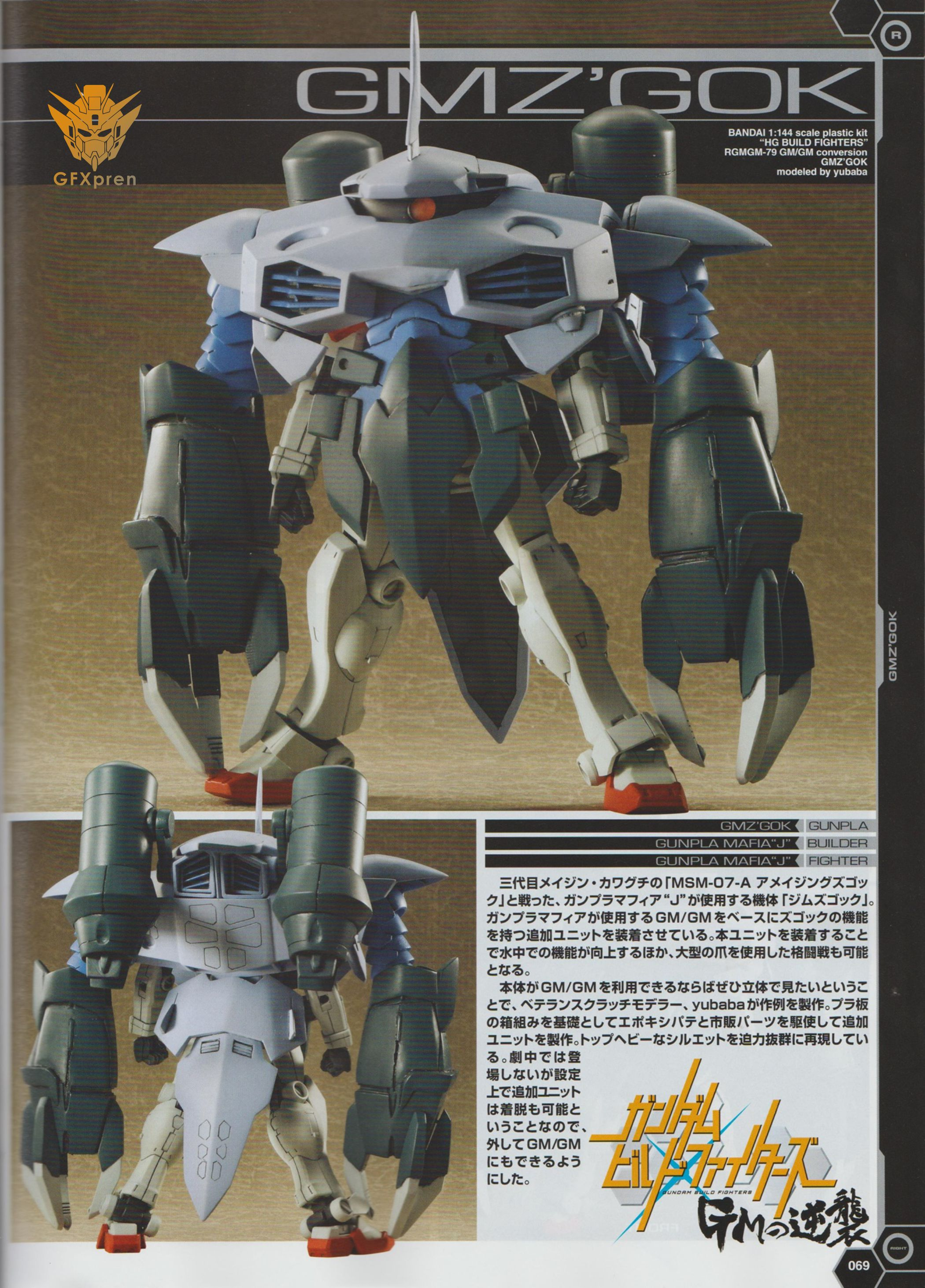 BANDAI HGBF Gundam Build Fighters GM GM Weapons 1//144 Plastic Model Japan NEW
